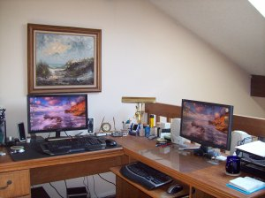 "This is my haven and ""control room"" for WOW playing"